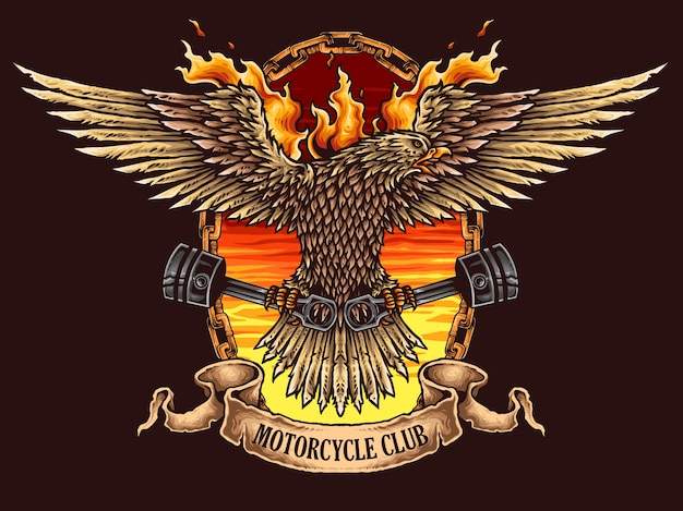 Eagle motorcycle badge logo