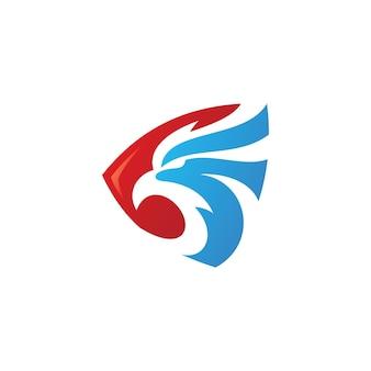 Eagle security logo falcon bird head and shield vector icon