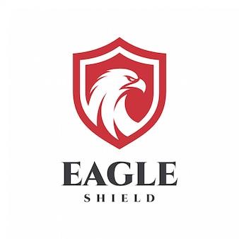 Орел логотип щит