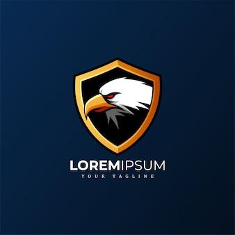 Eagle shield mascot logo