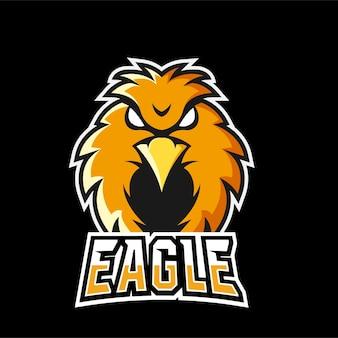 Логотип талисмана орла для спорта и киберспорта