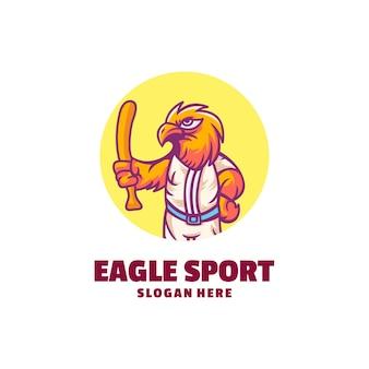 독수리 스포츠 만화 로고 디자인