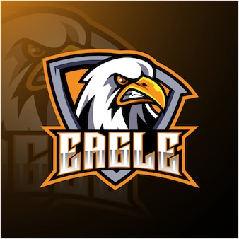 Орел спортивный талисман дизайн логотипа