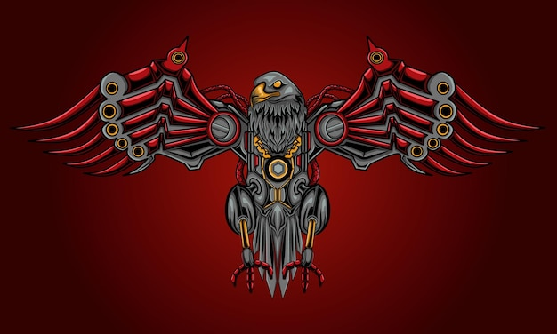 Eagle steampunk illustration