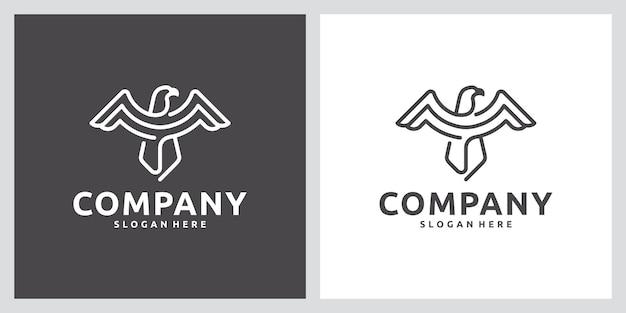 독수리, 강한, 라인 아트, 로고 디자인 영감
