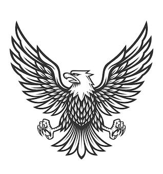Eagle symbol illustration on vintage style
