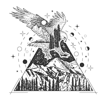 Eagle tattoo art style