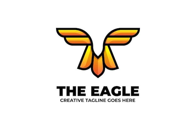 독수리 날개 그라데이션 다채로운 로고