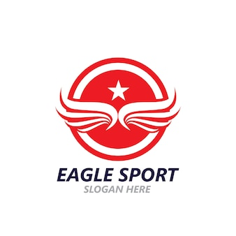 Eagle wing logo design vector image template