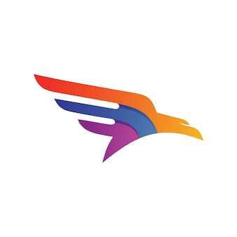 Eagle wing logo vector