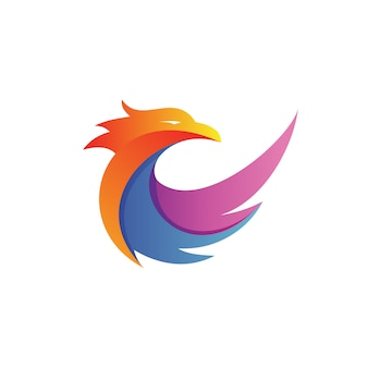 Eagle wing logo vector