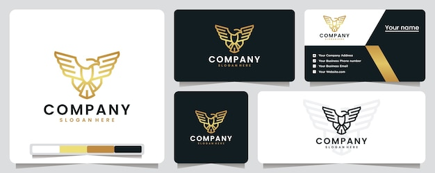 Eagle wings, gold , flying , logo design inspiration
