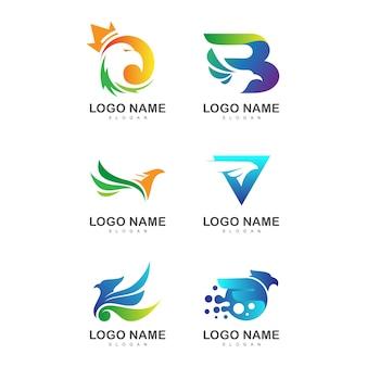 Коллекция логотипов eagle