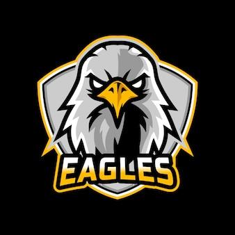 Дизайн логотипа киберспорта талисмана орла