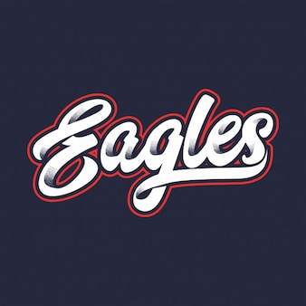 Eagles text typography vector
