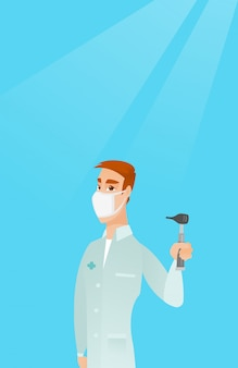 Ear nose throat doctor vector illustration.