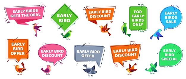 Early bird labels set