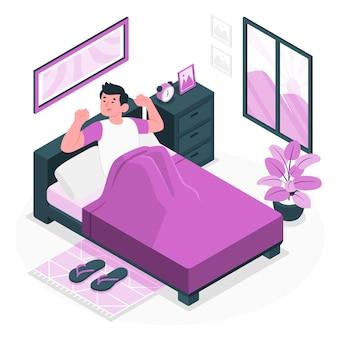 Illustrazione del concetto di mattina presto