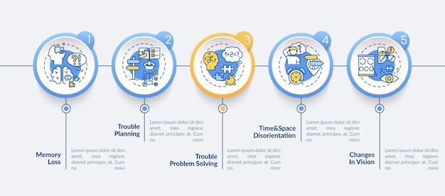 Alzheimer infographic 템플릿의 초기 징후
