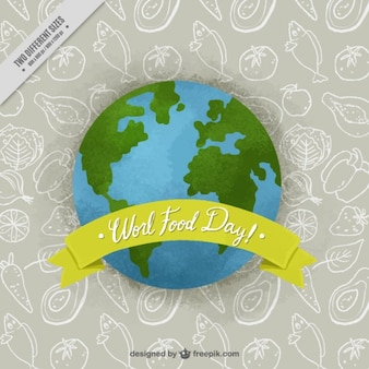 Earth background to celebrate world food day