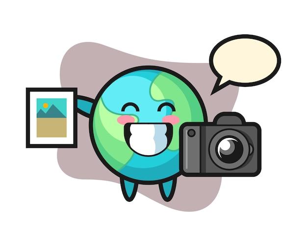 写真家としての地球の漫画