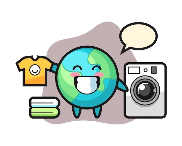 Земля мультфильм со стиральной машиной
