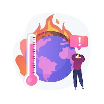 지구 기후 변화, 온도 상승, 지구 온난화. 여러 번의 화재, 동식물 파괴, 행성 야생 동물 및 인류 피해.