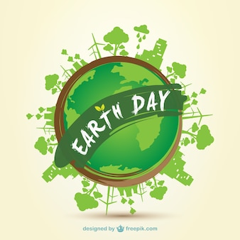 Earth day 2014 clip art - vector