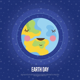 Earth day cartoon vector web
