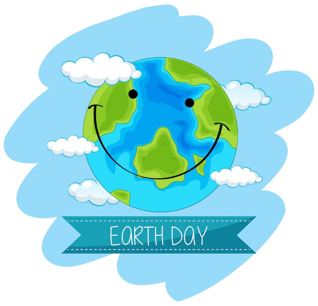 Earth day concept poster