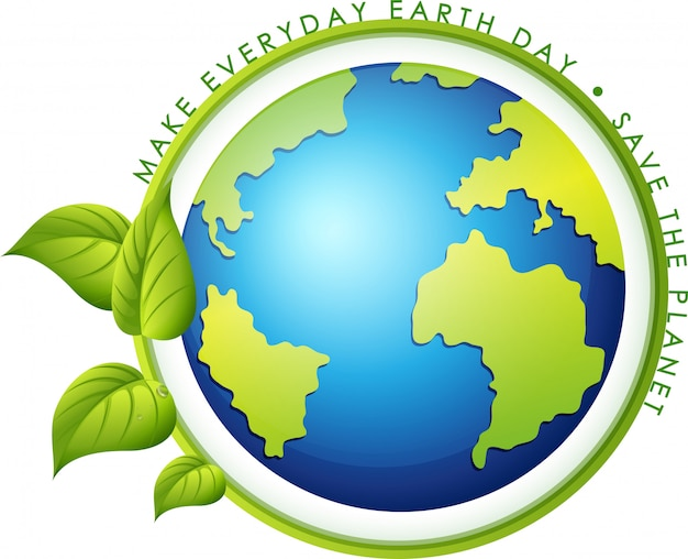 Un'icona del giorno della terra