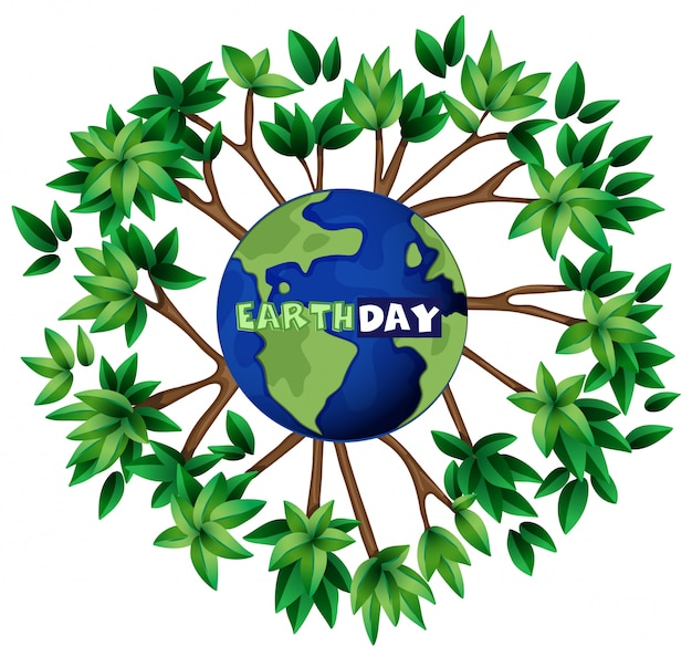 An earth day illustration