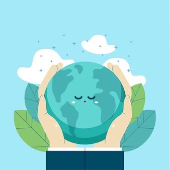 Earth day international illustration