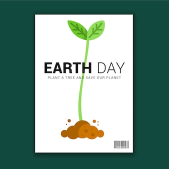 Earth day motivational greeting flyer