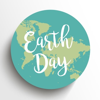 Earth day. vector illustration with the words, planets.