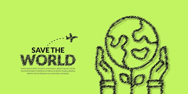 손을 잡고 식물 배경으로 지구의 날 지구 개념을 저장 에코 환경 보호
