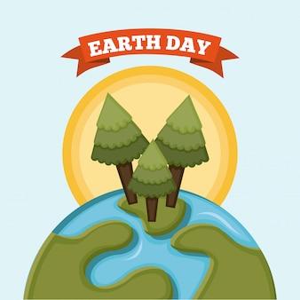 Earth design over white background vector illustration
