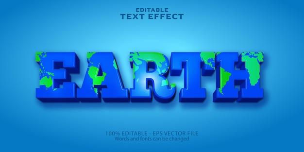 지구 편집 가능한 텍스트 효과 플라스틱 스타일
