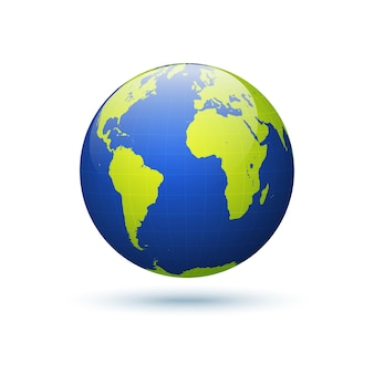 Earth globe vector