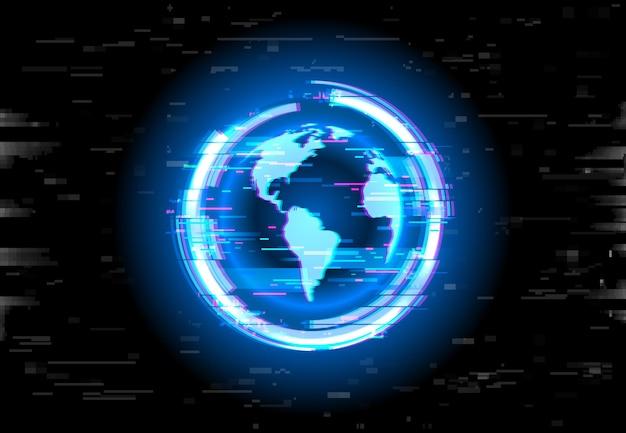 Земной шар с эффектом сбоя