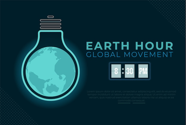 Earth hour background banner
