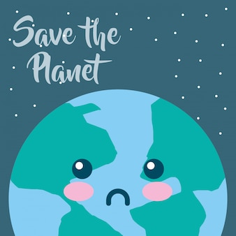 Earth hour cartoon
