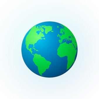 地球の形をした地球