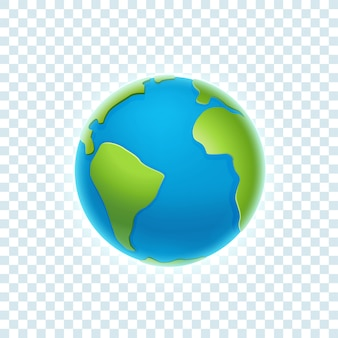 The earth isolated on transparent background