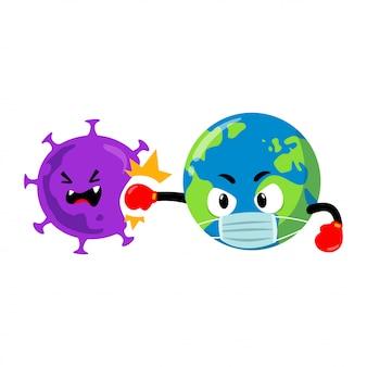 コロナウイルスに対する地球のマスコットキャラクター