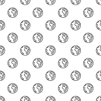 Earth pattern seamless