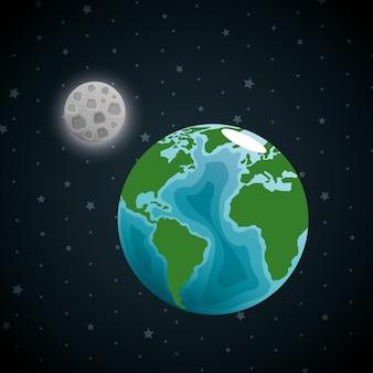 Земная планета в космосе