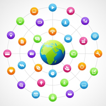 소셜 미디어와 지구 모양