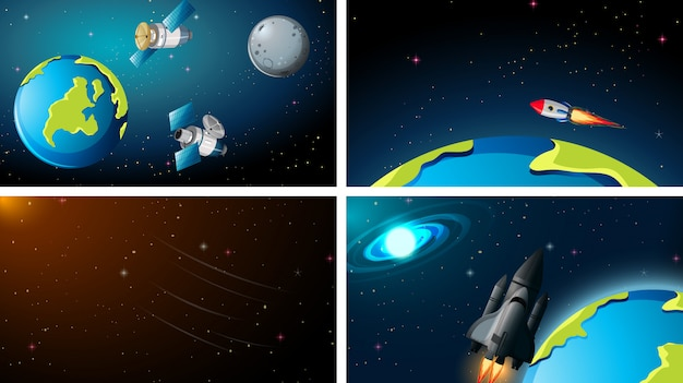 Earth space background scenes