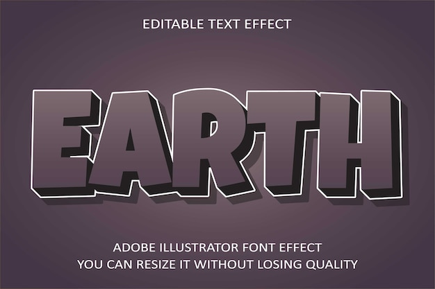 Earth   text effect